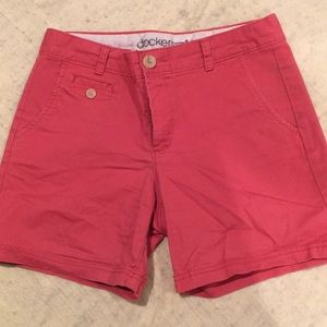 Docket dark coral shorts